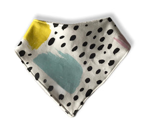 COLOURFUL STROKES Organic Cotton Dog Bandana Bib
