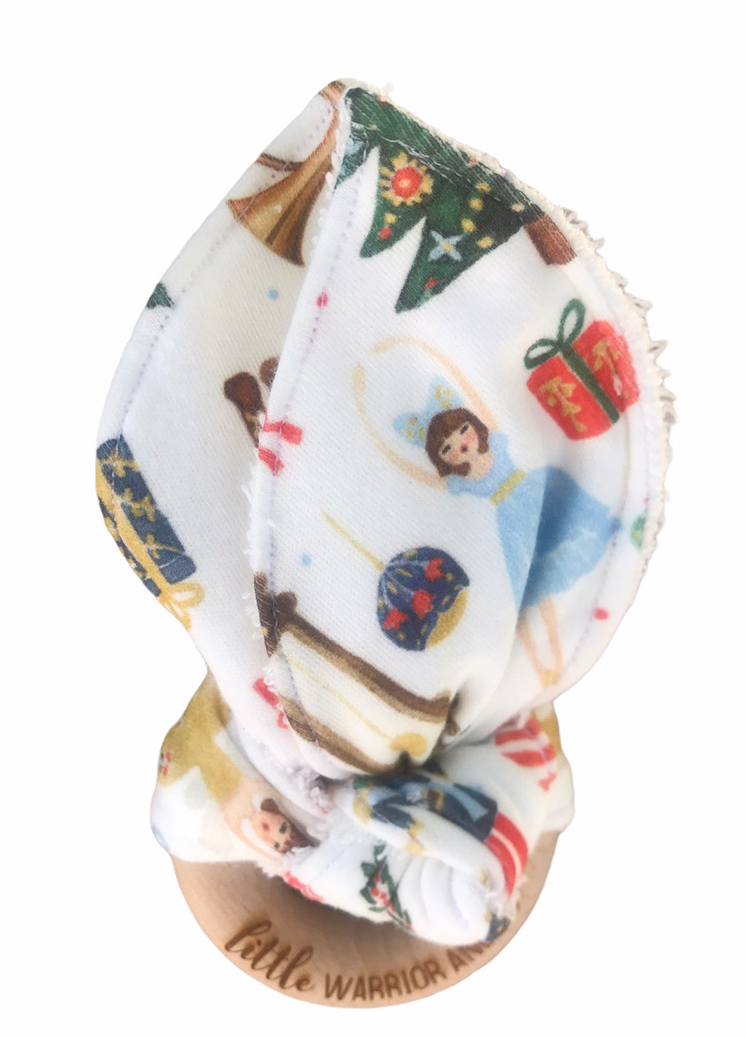 Nutcracker Dreaming Organic Cotton Fabric Teether