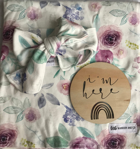 'Lily Rose' Organic Cotton Head Wrap