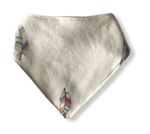 FEATHERED Organic Cotton Dog Bandana Bib