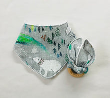 """Arctic Dreams"" Organic Cotton Fabric Teether"