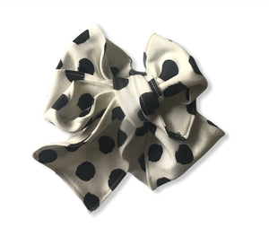 SPOTS AND DOTS MONOCHROME Organic Cotton Head Wrap