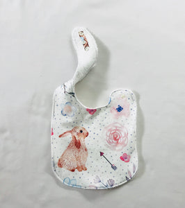 BUNNIES AND ROBINS Organic Cotton Feeding Bib