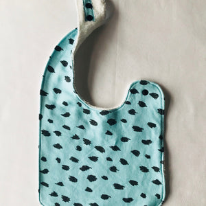 """Leopard Green"" Organic Cotton Feeding Bib"