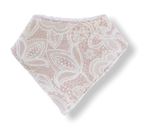 PRETTY IN LACE Organic Cotton Bandana Bib