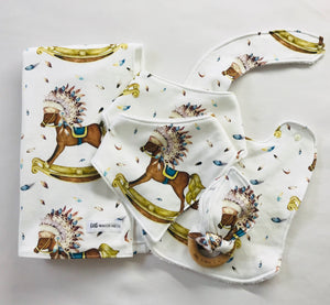 BOHO BOY Organic Cotton Bandana Bib