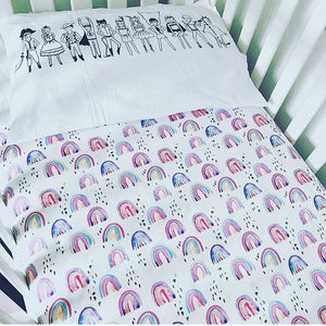 'Rainbow Baby' Organic Cotton Swaddle Blanket