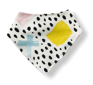 COLOURFUL STROKES Organic Cotton Bandana Bib