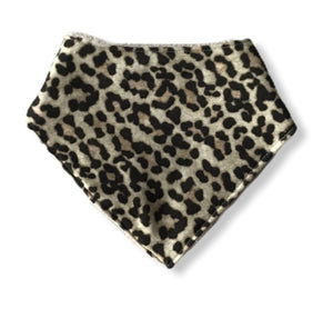SNOW LEOPARD Organic Cotton Dog Bandana Bib