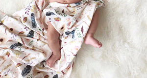 """Boho Baby"" Organic Cotton Swaddle Blanket"