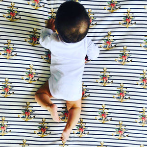 'Boho Sailor' Organic Cotton Swaddle Blanket