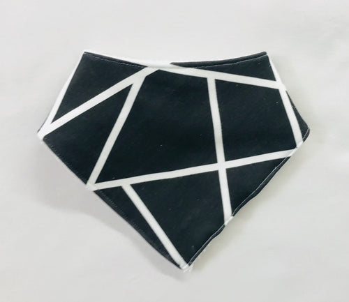 'Abstract Monochrome' Organic Cotton Bandana Bib