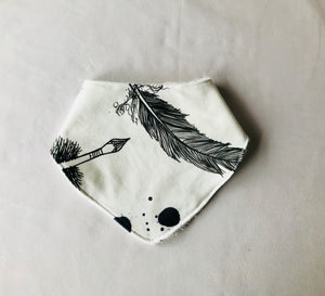 """Feathered"" Organic Cotton Slouch Bib"