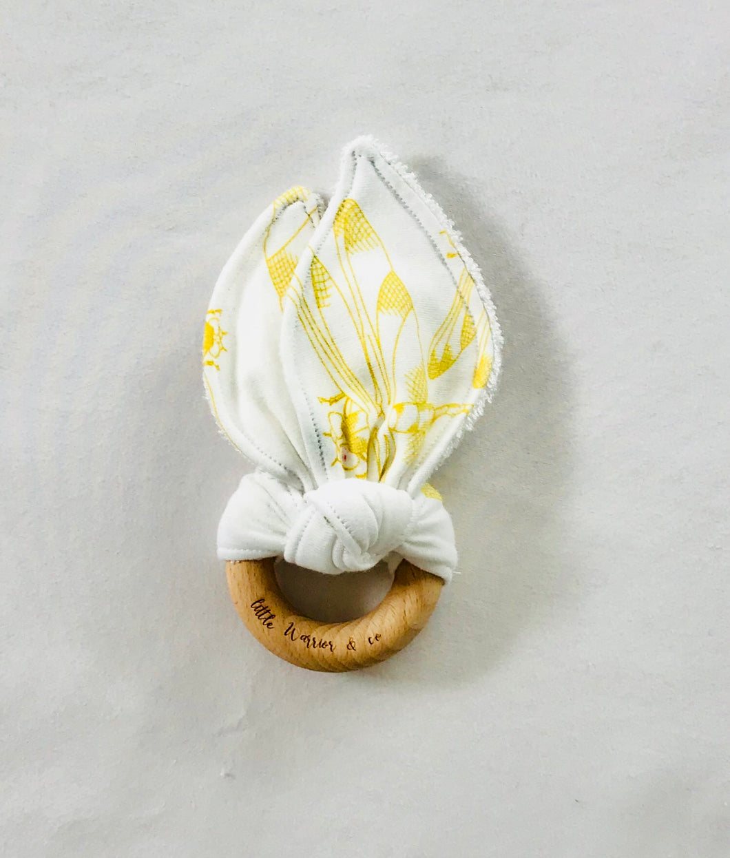 DRAGONFLY GOLD Organic Cotton Fabric Teether