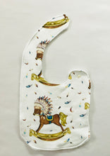 """Boho Boy"" Organic Cotton Feeding Bib"
