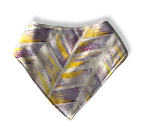 WATERCOLOUR FEATHERS Organic Cotton Dog Bandana Bib