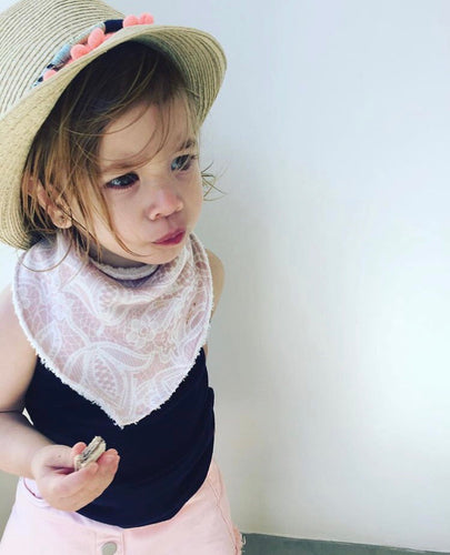 'Pretty In Lace' Organic Cotton Slouch Bib