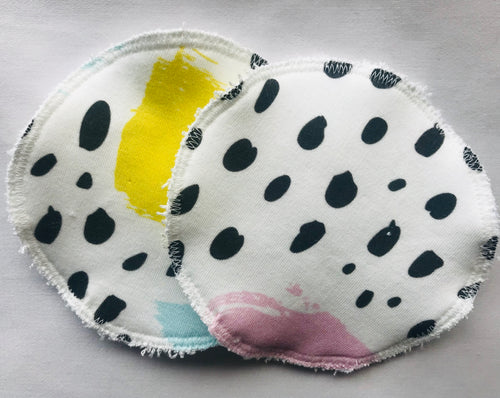 'Colourful Strokes' Organic Cotton Reusable Nursing Pad Set