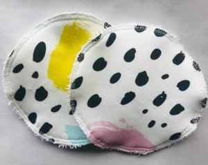 COLOURFUL STROKES Organic Cotton Reusable Nursing Pad Set