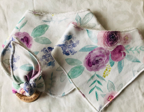 LILY ROSE Organic Cotton Bandana Bib