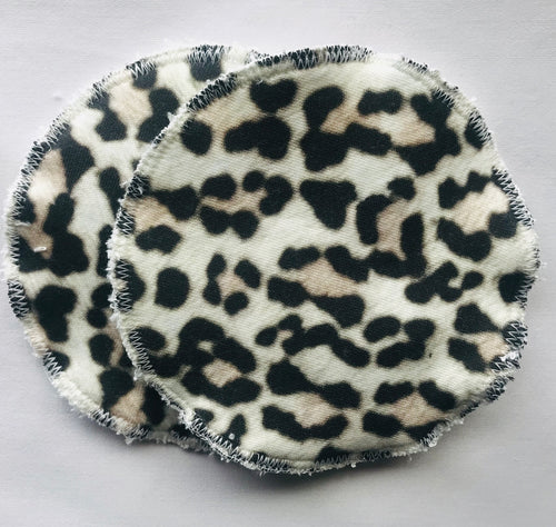SNOW LEOPARD Organic Cotton Reusable Nursing Pad Set