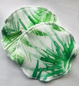 'Tropical' Organic Cotton Reusable Nursing Pad Set
