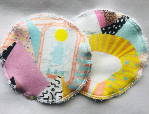 PHARAOH LOVE Organic Cotton Reusable Nursing Pad Set