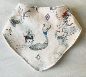 MERMAIDS AND DRAGONS Organic Cotton Slouch Bib
