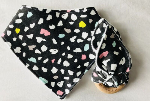 'Rainbow Panther' Organic Cotton Bandana Bib