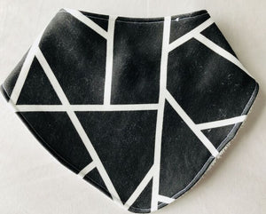 """Abstract Monochrome"" Organic Cotton Slouch Bib"