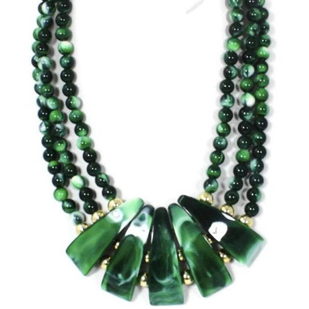 Malachite Statement Necklace - Domaine Designs