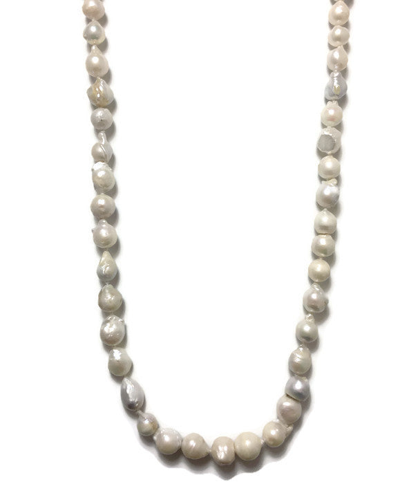 Freshwater Pearl Knotted Rope Necklace