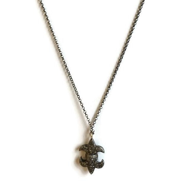 Diamond Fleur de Lis Necklace - Domaine Designs