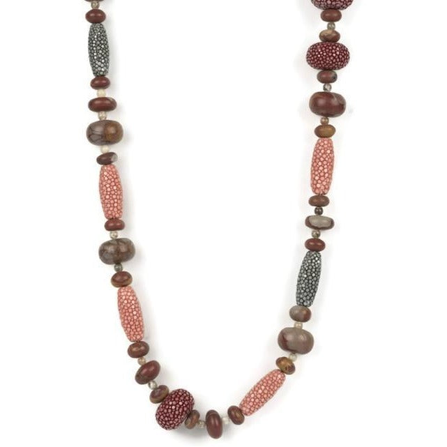 Agate & Shagreen Necklace