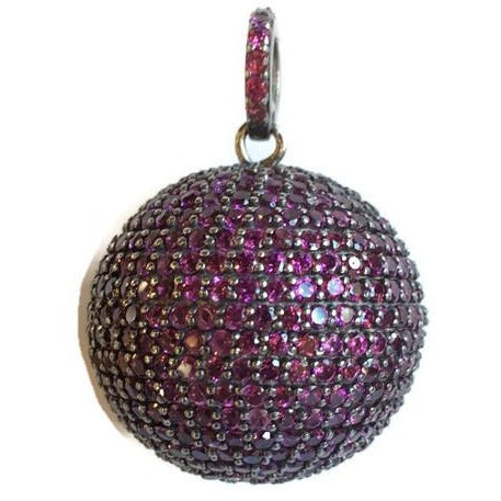 Large Rose Spinel Orb Pendant - Domaine Designs