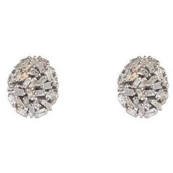 Baguette Oval Diamond Earrings - Domaine Designs