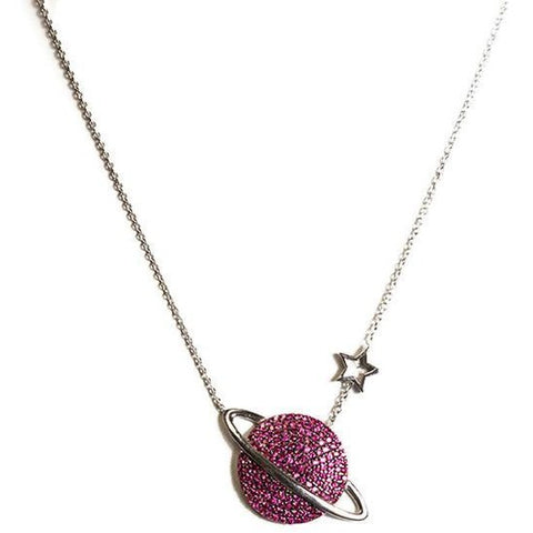 Pink Jupiter Necklace