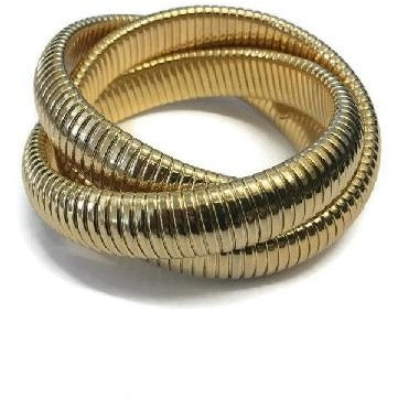 Gold Triple Strand Endless Bracelet - Domaine Designs
