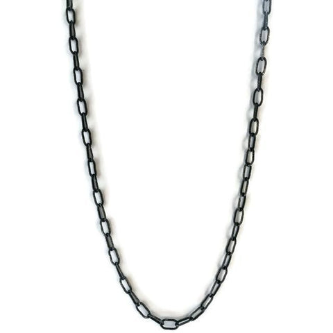 Oxidized Sterling Chain Necklace