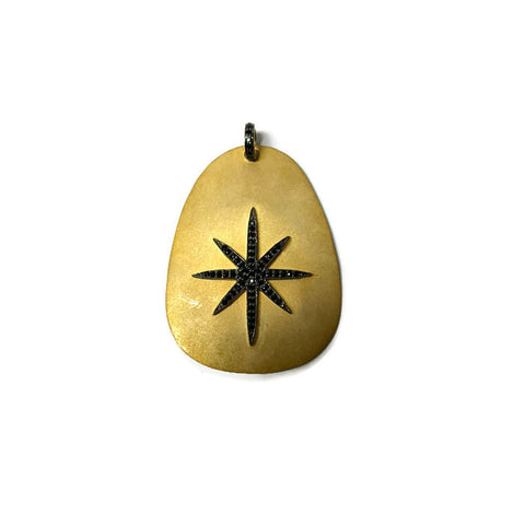 Matte Gold Sunburst Pendant - Domaine Designs