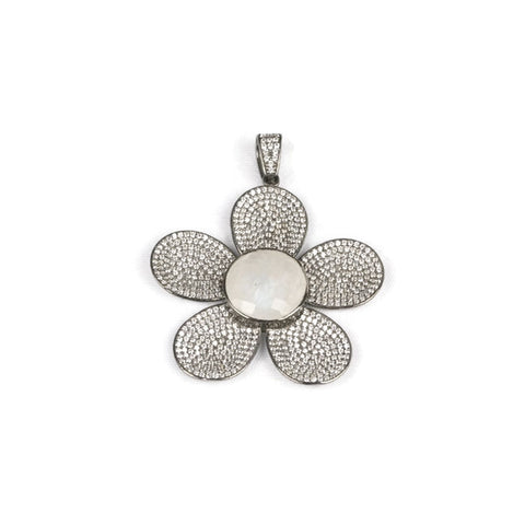 Moonstone Flower Pendant - Domaine Designs