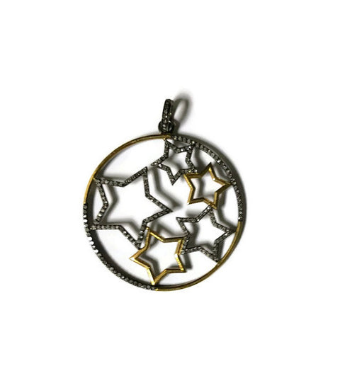 Diamond Stars Pendant - Domaine Designs