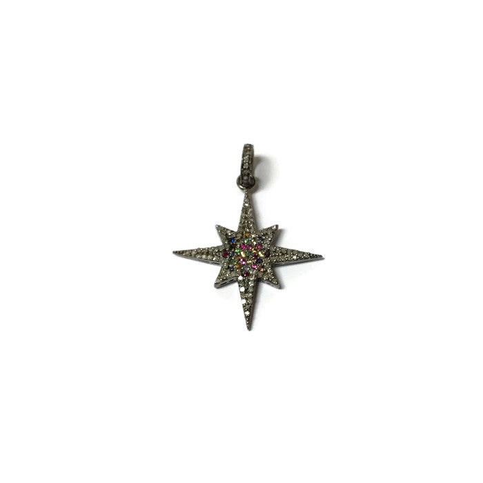 Semi Precious Star Pendant - Domaine Designs