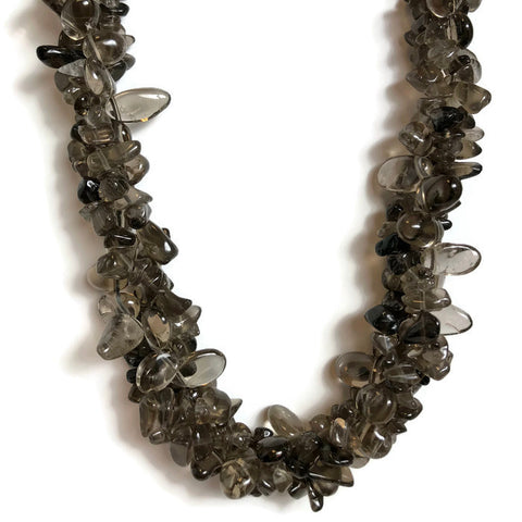 Smokey Topaz Nugget Necklace