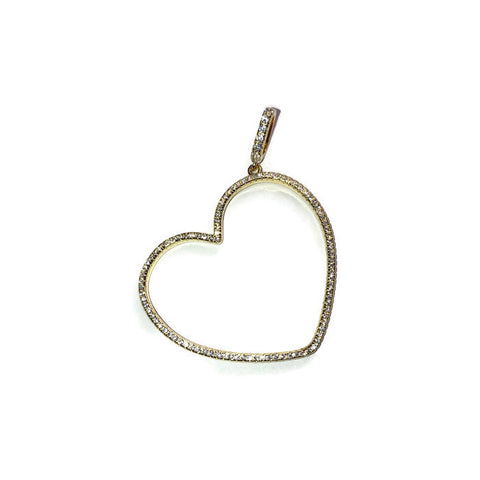 Gold Open Heart Pendant