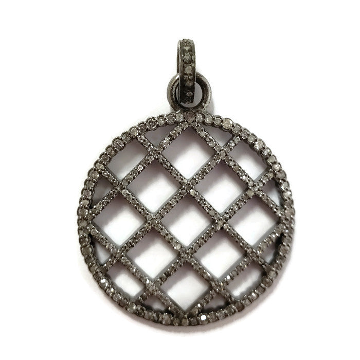 Basket Weave Diamond Pendant