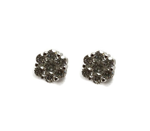 Flower Cluster CZ Stud Earrings
