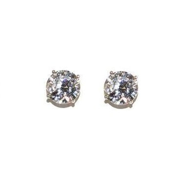 7mm CZ Stud Earrings - Domaine Designs