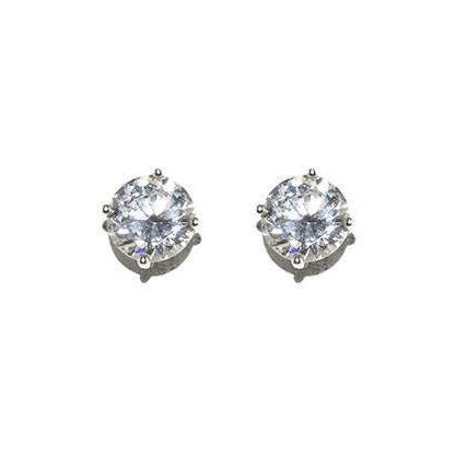 8mm CZ Stud Earrings - Domaine Designs