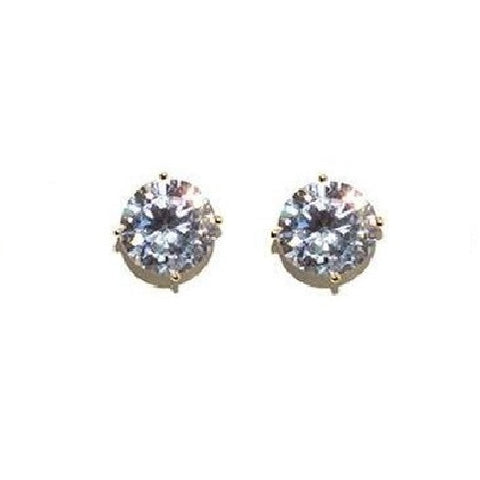 9mm CZ Stud Earrings - Domaine Designs